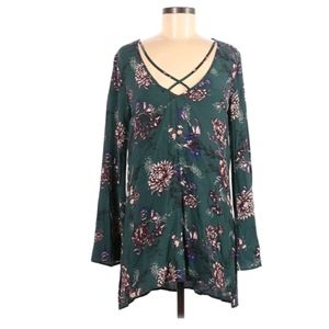 Free people boho floral blouse top size small